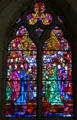 Stained glass window in church at Hill of Tara. Ireland.