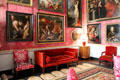 Red Drawing Room at Castletown House. Ireland.