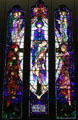 Mother of Sorrows stained glass by Harry Clarke at National Gallery of Ireland. Dublin, Ireland.