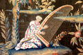Detail of tapestry with Oriental scenes in tapestry room at Russborough House. Ireland.