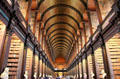 Interior of Old Trinity Library on Trinity College Campus. Dublin, Ireland