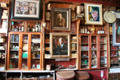 Displays & photos on shelves at Dick Mack's Pub in Dingle. Dingle, Ireland.