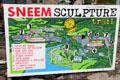 Colorful map of Sneem sculpture trail. Sneem, Ireland.