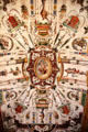 Elaborate painted ceiling at Uffizi Gallery. Florence, Italy.