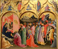 Adoration of the Magi painting by Lorenzo Monaco at Uffizi Gallery. Florence, Italy.