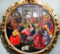 Adoration of the Magi painting by Ghirlandaio at Uffizi Gallery. Florence, Italy.