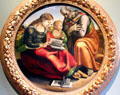 Holy Family painting by Luca Signorelli at Uffizi Gallery. Florence, Italy.