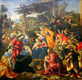 Adoration of the Magi painting by Filippino Lippi at Uffizi Gallery. Florence, Italy.