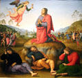 Agony in the Garden painting by Il Perugino at Uffizi Gallery. Florence, Italy.