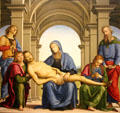 Pieta painting by Il Perugino at Uffizi Gallery. Florence, Italy.