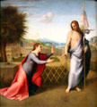 Noli me tangere painting by Andrea del Sarto at Uffizi Gallery. Florence, Italy.