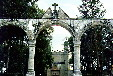 Arches of entrance to monastery in Huejotzingo. Mexico.