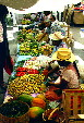 Women selling their fruits & vegetables at market in Acatlán. Mexico.