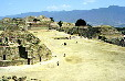 Looking north along main street of Monte Albán, a site inhabited for over 2,500 years. Mexico.