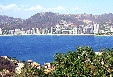 The skyline of Acapulco as seen from across bay. Mexico.