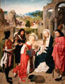 Adoration of the Magi painting by Geertgen tot Sint-Jans at Rijksmuseum. Amsterdam, NL.