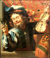 Merry Fiddler painting by Gerard van Honthorst at Rijksmuseum. Amsterdam, NL.