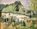 Farm cottage near Auvers-sur-Oise painting by Vincent van Gogh at Rijksmuseum. Amsterdam, NL.