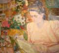 Portrait of Marie Jeanette de Lange by Jan Toorop at Rijksmuseum. Amsterdam, NL.