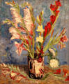 Vase with gladioli & Chinese asters painting by Vincent van Gogh at Van Gogh Museum. Amsterdam, NL.