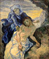 Pieta painting after Delacroix by Vincent van Gogh at Van Gogh Museum. Amsterdam, NL.