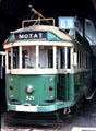 Street car exhibit from the Museum of Transport Technology and Social History in Auckland. New Zealand.