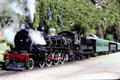 Excursion steam train in Kingston. New Zealand.