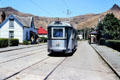 Street car in Ferrymeade, a reconstructed village featuring a variety of clubs and associations, in Christchurch. New Zealand.