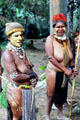 Painted women of the Chimbu village. Papua New Guinea.
