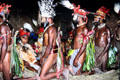 Men approach the women during a courtship ritual near Banz. Papua New Guinea.