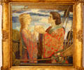 Tristan & Isolde painting in Celtic Revival style by John Duncan at Edinburgh City Art Centre. Edinburgh, Scotland