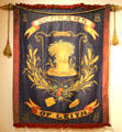 Dockers of Leith society banner showing wheat sheaf at Edinburgh City Art Centre. Edinburgh, Scotland.