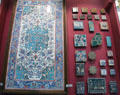 Collection of Islamic & European glazed ceramic tiles at National Museum of Scotland. Edinburgh, Scotland.