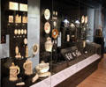 Display of ceramics by Chippendale & Wedgwood at National Museum of Scotland. Edinburgh, Scotland.