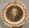 Commemorative plate with portrait of Josiah Wedgwood for 200th anniversary of his birth at National Museum of Scotland. Edinburgh, Scotland.