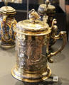 Gilt silver tankard with narcissus by Benedict Clausen of Danzig at National Museum of Scotland. Edinburgh, Scotland.