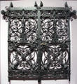 Wrought iron gate by Skidmores Art Manuf. of Coventry, England at National Museum of Scotland. Edinburgh, Scotland.