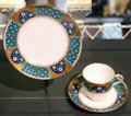 Porcelain tea cup & plate by Christopher Dresser made by Minton & Co. of Stoke-on-Trent, England at National Museum of Scotland. Edinburgh, Scotland.