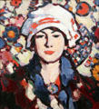 Le Voile Persan painting by John Duncan Fergusson of Scottish Colourists at Hunterian Art Gallery. Glasgow, Scotland.