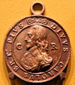 Execution of Charles I medal by Thomas Rawlins of France at Hunterian Art Gallery. Glasgow, Scotland.