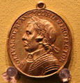 Death of Oliver Cromwell medal by Thomas Simon of France at Hunterian Art Gallery. Glasgow, Scotland.