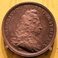 George I Proclaimed King medal by Ehrenreich Hannibal of Germany at Hunterian Art Gallery. Glasgow, Scotland.