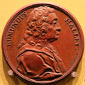 Edmund Halley medal by Jacques-Antoine Dassier of London at Hunterian Art Gallery. Glasgow, Scotland.
