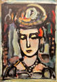 Circus Girl painting by Georges Rouault at Kelvingrove Art Gallery. Glasgow, Scotland.