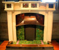 Fireplace by Ernest Archibald Taylor made by Wylie & Lochhead of Glasgow & shown at Exhibition of Art, Science & Industry at Kelvingrove Art Gallery. Glasgow, Scotland
