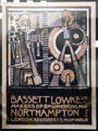 Advertising label for Bassett Lowke Ltd. by Charles Rennie Mackintosh at The Lighthouse. Glasgow, Scotland.
