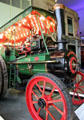 Steam-powered traction engine by Rushton & Hornsby at Riverside Museum. Glasgow, Scotland.