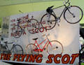 Collection of Flying Scot 10-speed bicycles by Rattray's of Glasgow at Riverside Museum. Glasgow, Scotland.