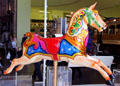 Carrousel horse at Riverside Museum. Glasgow, Scotland.