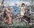 Balloons at Brighouse Bay painting by Edward Atkinson Hornel of Glasgow Boys at Broughton House. Kirkcudbright, Scotland.